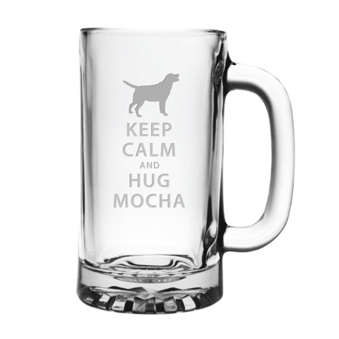 Personalized Keep Calm and Hug Your Pet Beer Mugs