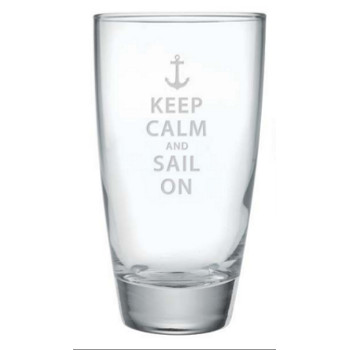 Keep Calm And Sail On, Cooler Glasses S/4