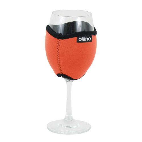 Vino Hug Neo - Orange Wine Glass Koozie