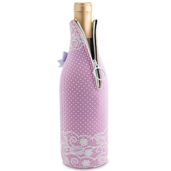 Lavender Lace Neoprene Wine Bottle Koozie