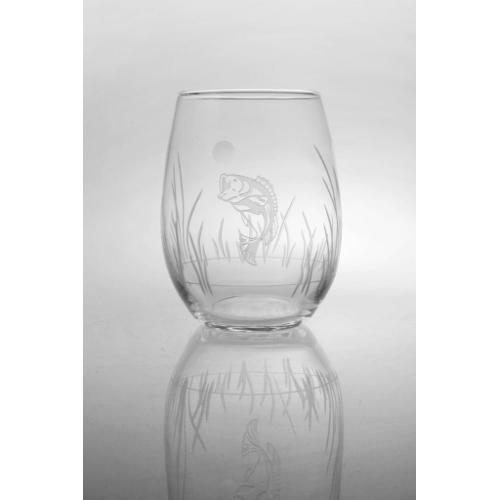 Lake Fish Stemless Wine Glasses (set of 4)