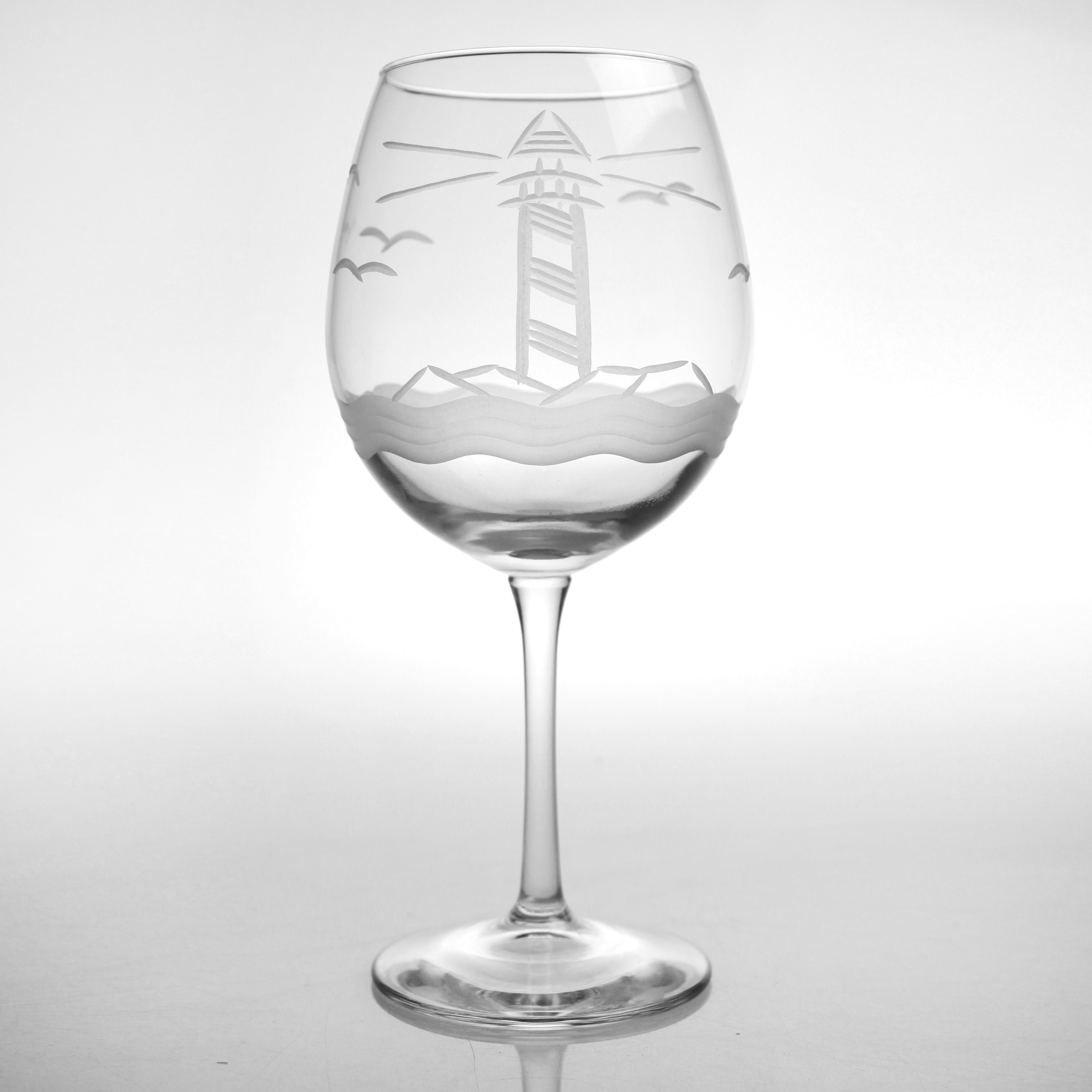 Etched Light Breeze Balloon Wine Glass (set of 4)