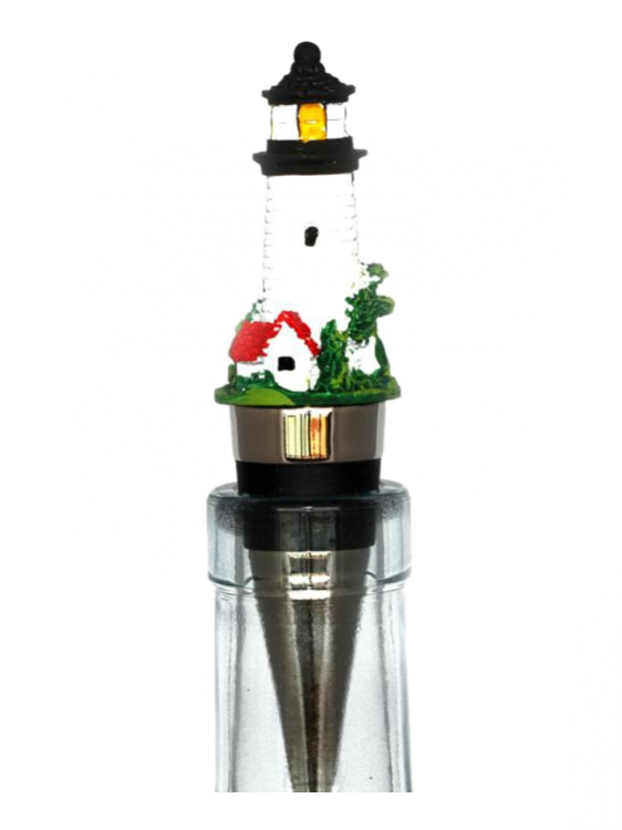 Hand Painted Lighthouse Wine Bottle Stopper