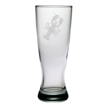 Lobster Etched Grand Pilsner Glass Set