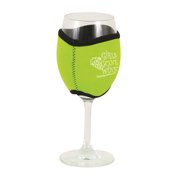 Neoprene Insulating Wine Glass Hug with Company Logo (set of 36)