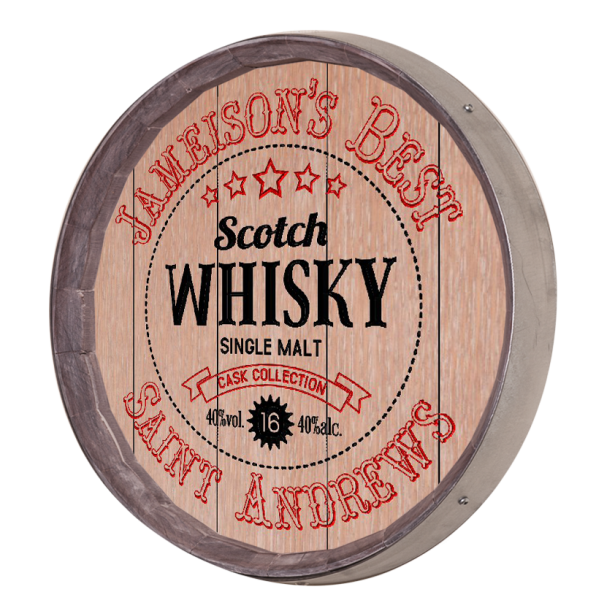 Personalized Whiskey Seal Barrel Sign