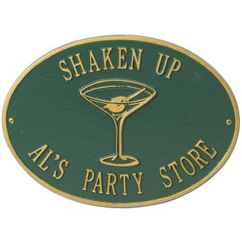 Martini Shaken Up Personalized Wall Plaque