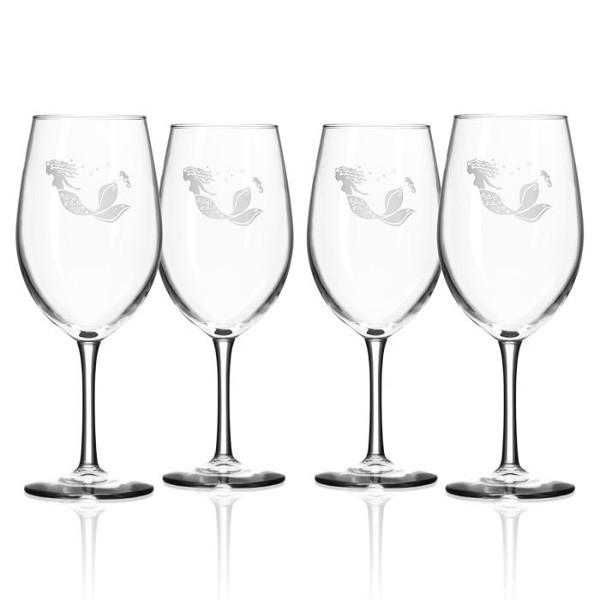 Mermaid White Wine Glasses (set of 4)