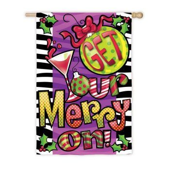Get Your Merry On! Flag