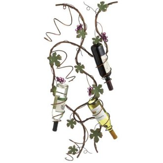 Grape Vine Wall Mounted Wine Rack