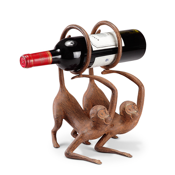 Whimsical Monkeys Wine Bottle Holder