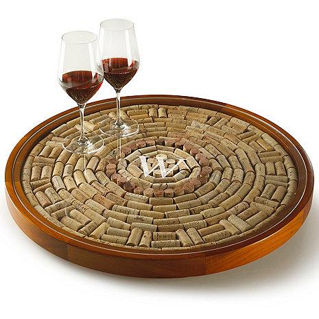 Personalize Wine Cork Lazy Susan Kit For 300 Corks With Plexiglas