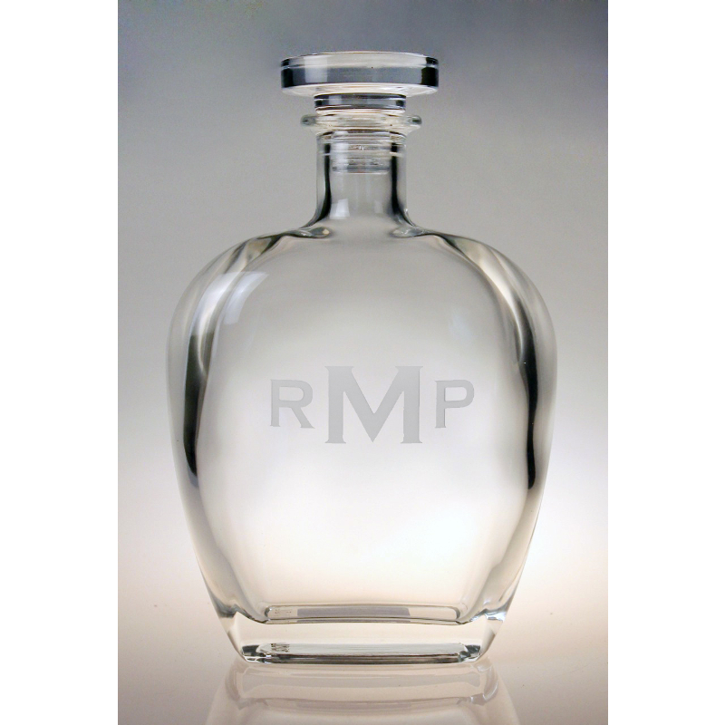 Monogrammed Whiskey Decanter