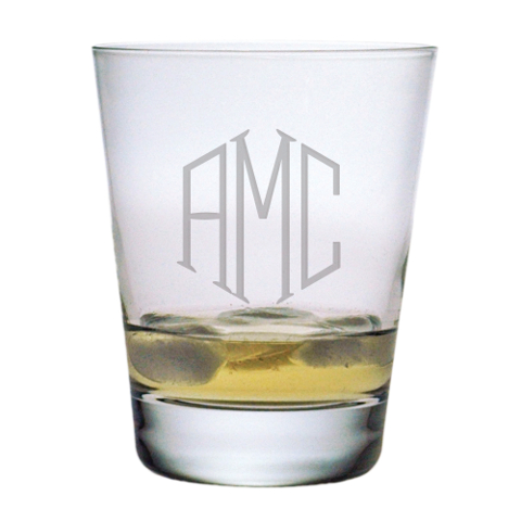 Monogrammed DOF Glasses (set of 4)