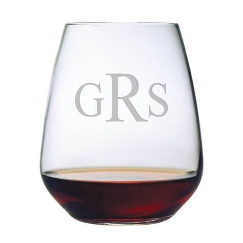Monogrammed Stemless Wine Tumblers (set of 4)