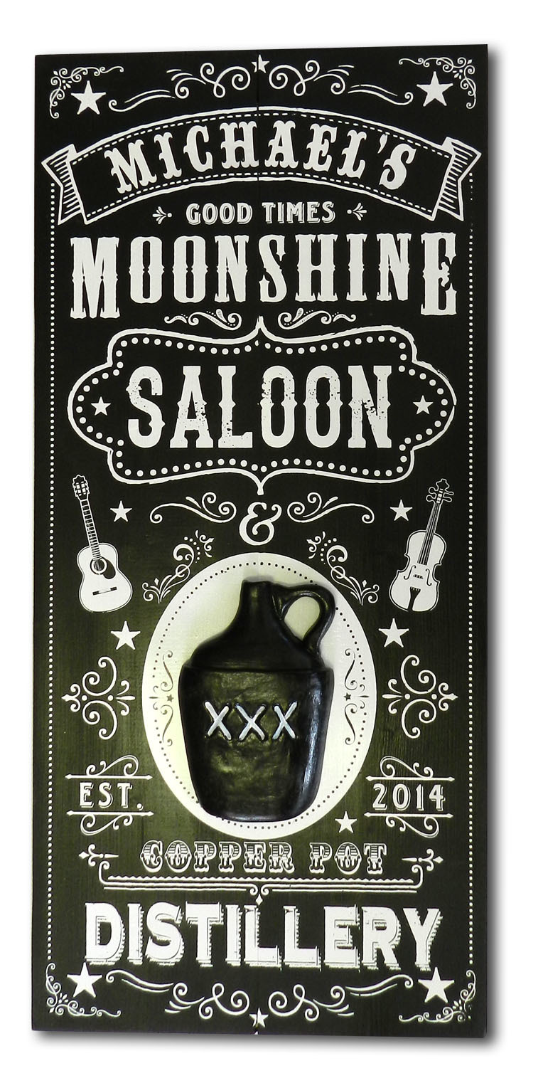 Moonshine Personalized Wooden Sign