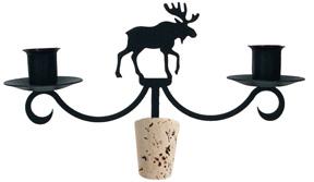 Moose Wine Bottle Candle