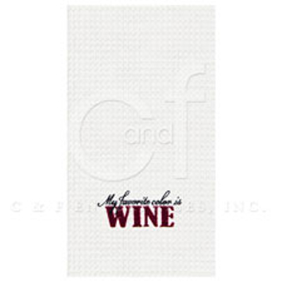 My Favorite Color Is Wine Kitchen Towel