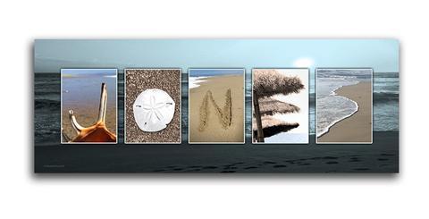 Beach Letters Name Art