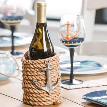 Nautical Rope Wine Bottle Holder