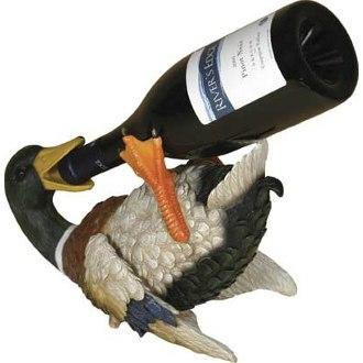 Banded Mallard Duck Wine Bottle Holder