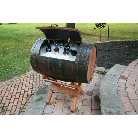 Oak Barrel Ice Box