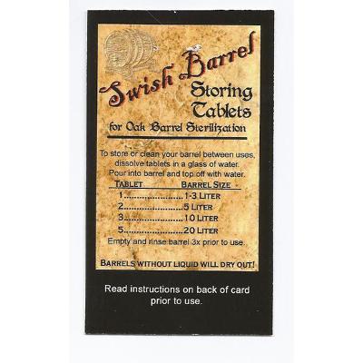 Oak Barrel Storing Tablets (25 Pack)
