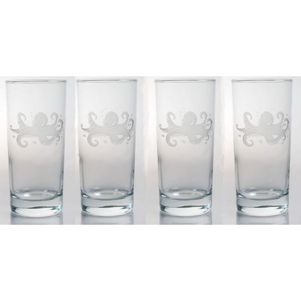 Octopus Cooler Glasses (Set of 4)