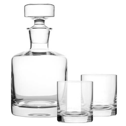 Orsay Round Whisky Decanter and Glasses Set