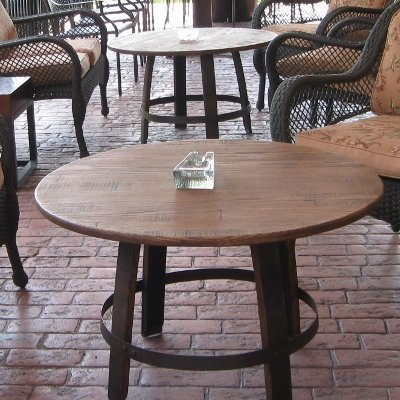 Indoor / Outdoor Barrel Ring Coffee Table