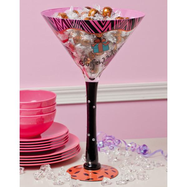 Hand Painted Oversized Martini Glass