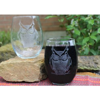 Owl Red Wine Tumblers (set of 2)