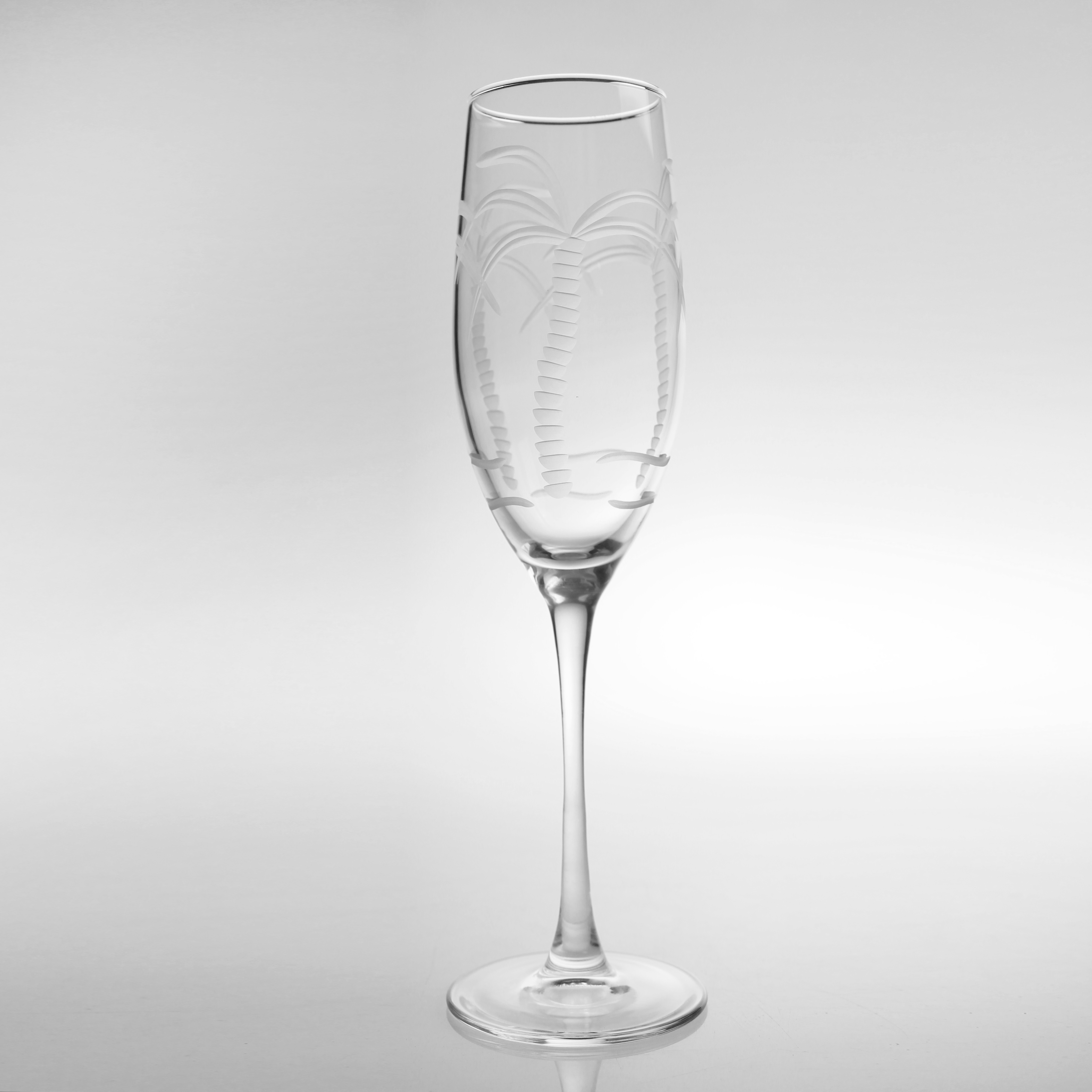 Palm Tree Champagne Flutes (set of 4)