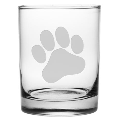 Paw Print DOR Glasses (set of 4)