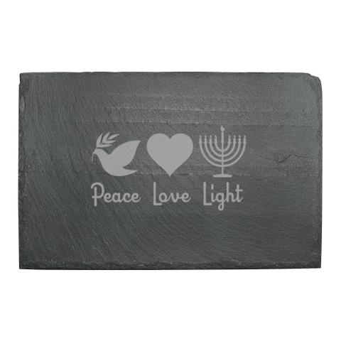 Peace Love Light Slate Cheese Server