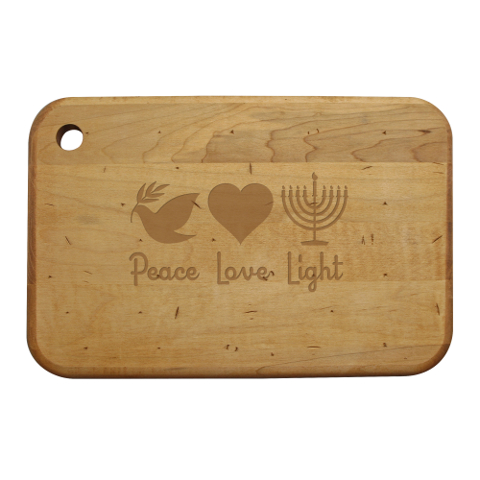 Peace Love Light Artisan Wood Board