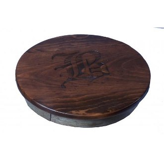 Wine Barrel Lazy Susan 14 Inch Option To Personalize Wooden Lazy Susans