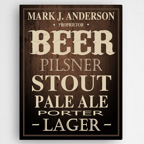 Personalized Beer Canvas