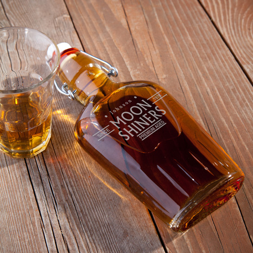 Personalized 8.5 oz. Glass Flask