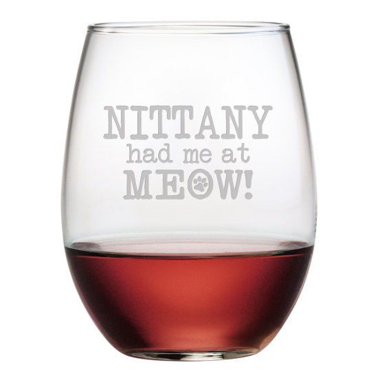 Personalized Had Me At Meow Stemless Wine Glasses (set of 4)