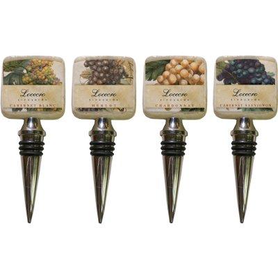 Personalized Italian Marble Wine Varietal Bottle Stopper