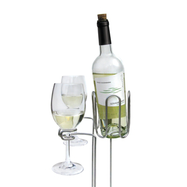 Picnic Wine Bottle and Stem Stake Set