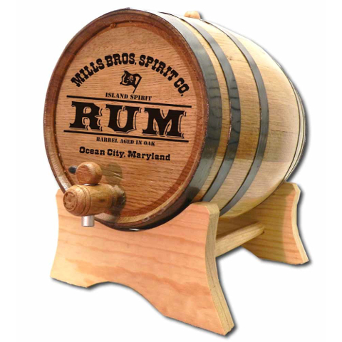 Personalized Pirate Rum Make Your Own Spirits Oak Aging Barrel