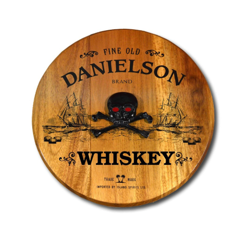 Pirate Ship Personalized Barrel Head Sign