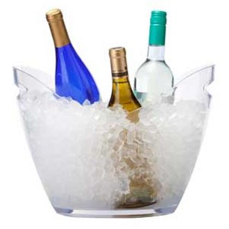 Plastic Party Bucket for 4 Bottles