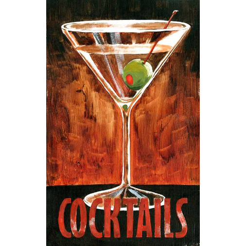 Personalized Martini Cocktails Sign
