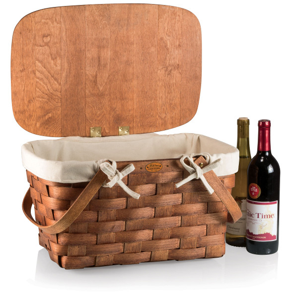 Prairie Wine Picnic Basket with Lining