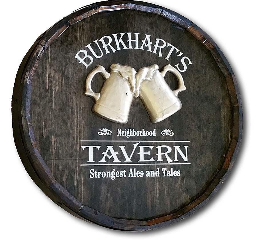 Beer Glass Tavern Quarter Barrel Sign