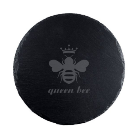 Queen Bee Round Slate Serving Board