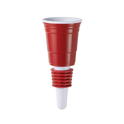 Red Cup Wine Bottle Stopper